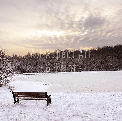 'Snowy Little Bracebridge Pool' - Christmas Card