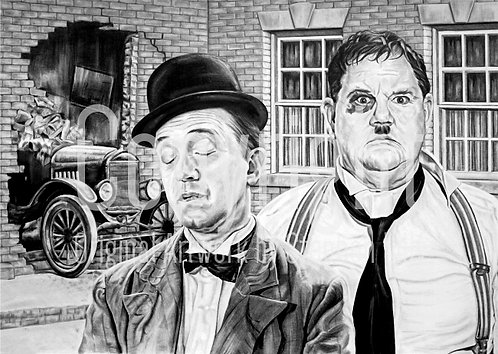 'Laurel & Hardy' - Stephen Lilly - Print