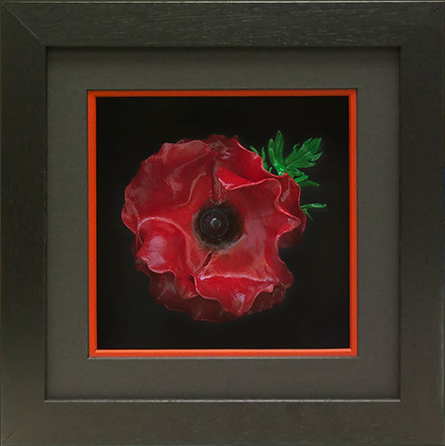Contemporary Black Poppy Frame (Incl. Polymer Poppy)