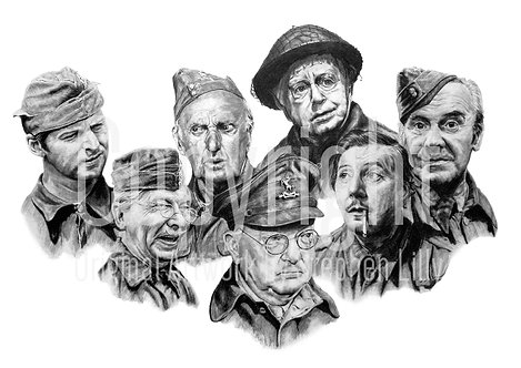 'Dad's Army' - Stephen Lilly - Print