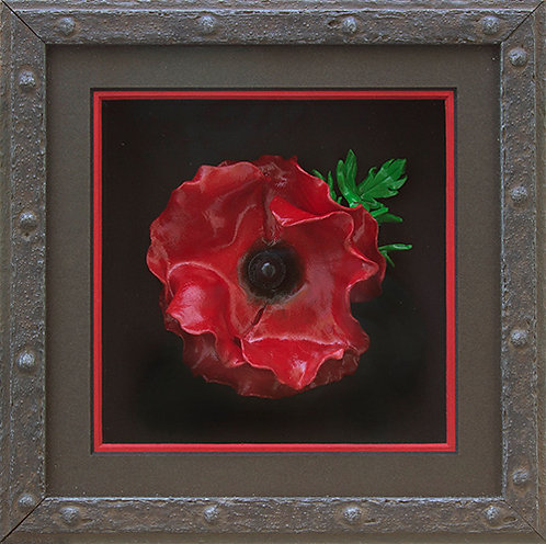 Cast Iron Effect Poppy Frame (Incl. Polymer Poppy)