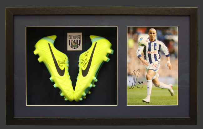 West Bromwich Albion Football Boots in Black Box Frame