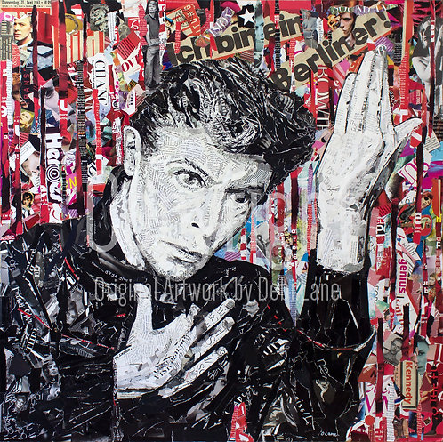 David Bowie Heroes - Debi Lane Mounted Print