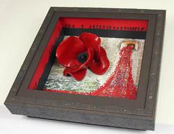 Canvas Base Ceramic Poppy Box