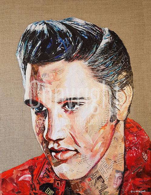 Elvis Presley - Debi Lane Mounted Print