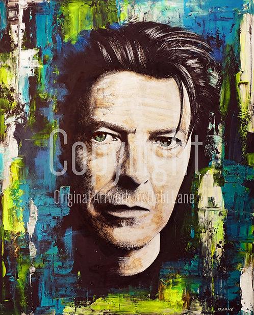 Bowie - Debi Lane Mounted Print