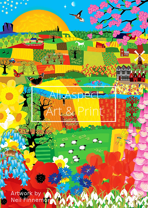 'Fields Patchwork' - Neil Finnemore Print