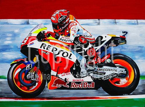 Honda Repsol Motorbike - Debi Lane Mounted Print