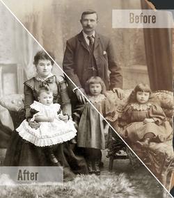 Split-View Family Photo Restoration