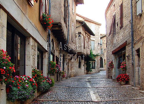 'French Cobbles' - Greetings Card