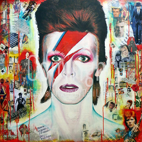 Aladdin Sane, David Bowie - Debi Lane Mounted Print