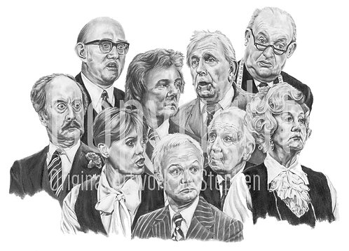 'Are You Being Served' - Stephen Lilly - Print