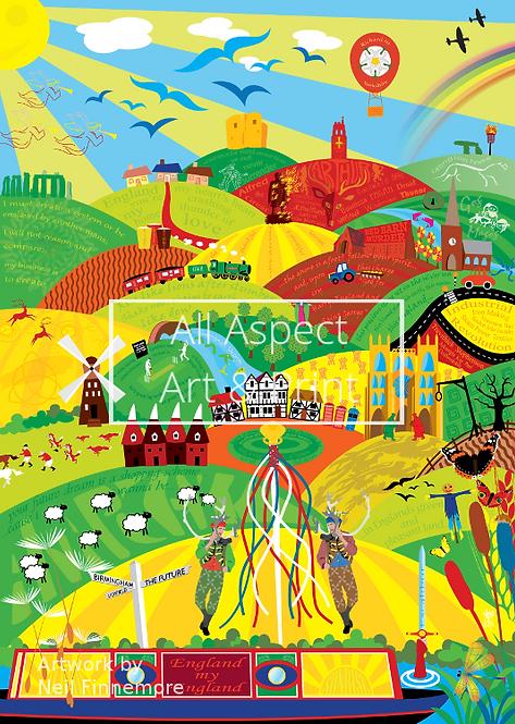 'England My England' - Neil Finnemore Print