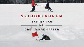 Video: Erster Skitag vs. drei Jahre später