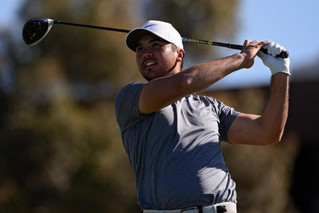 Jason Day victorious with his shaft TPT