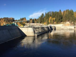 Embrettsfoss Dam - Betongarbeider