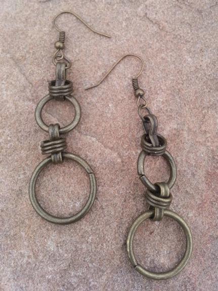 Brass Chain Earrings