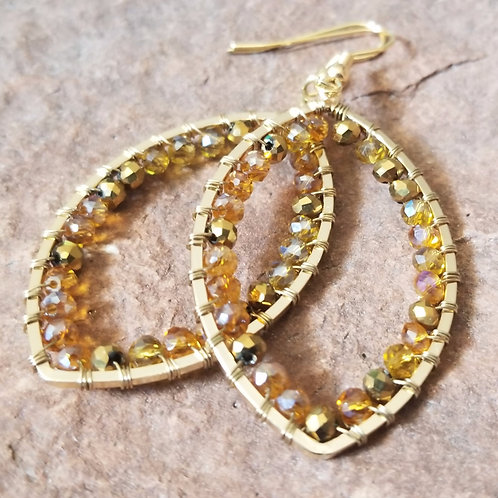 Amber and Gold Dangles