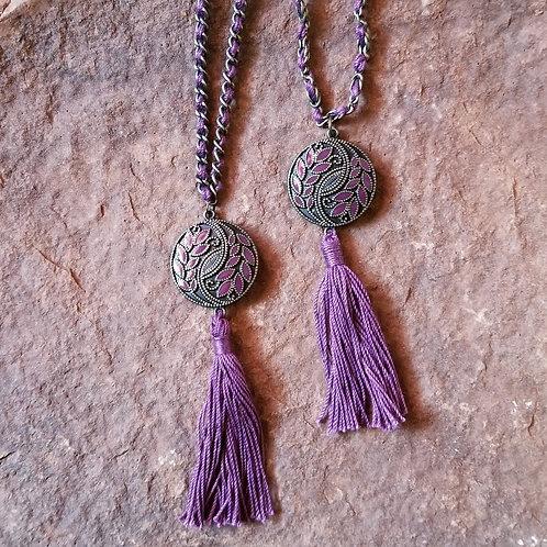 Violet Floral Necklace