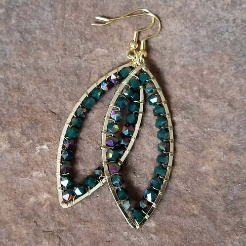 Teal and Gold Dangles