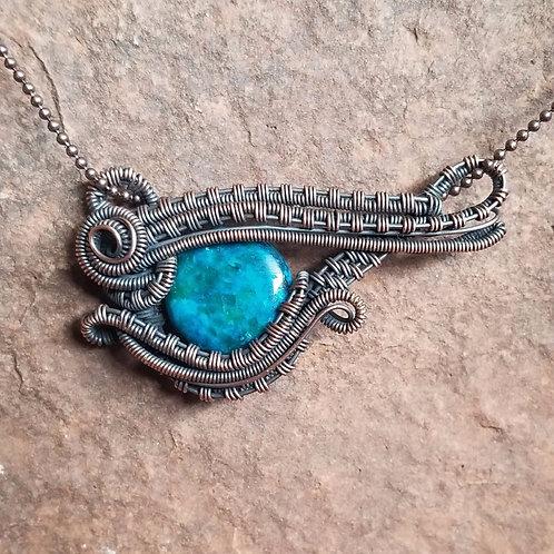 Chrysocolla Eye of Horus