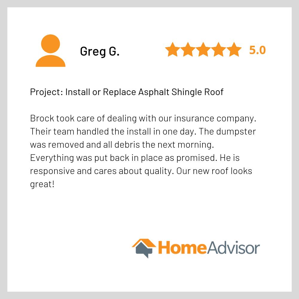 Homeadvisor Review - Good Shepherd Roofi