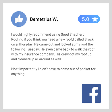 Facebook Review - Good Shepherd Roofing