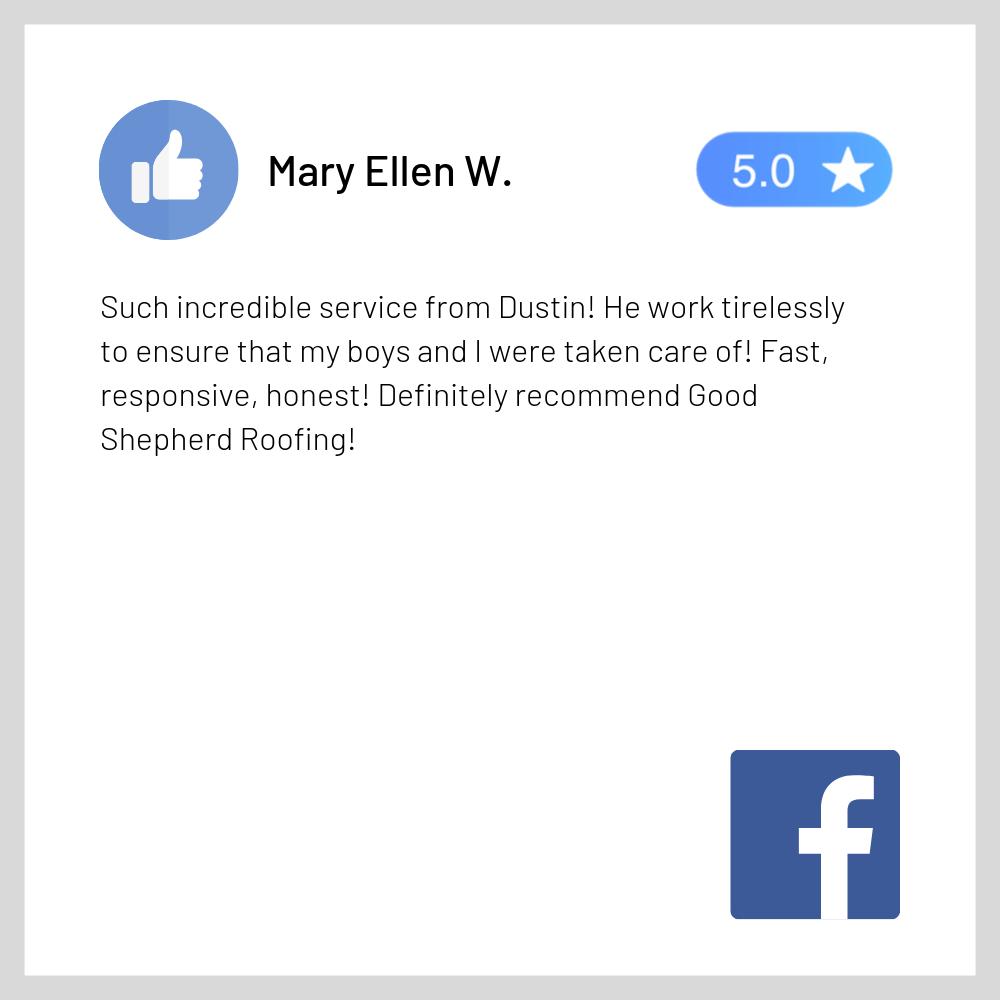 Facebook Review - Good Shepherd Roofing