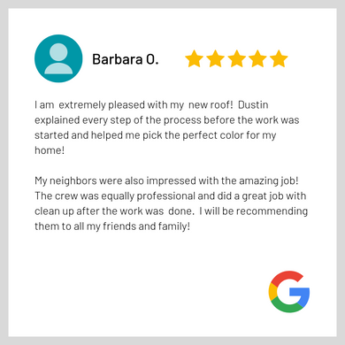 Google Review - Good Shephered Roofing B