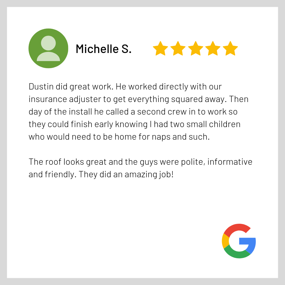 Google Review - Good Shephered Roofing M