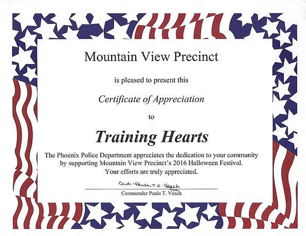 Training Hearts City of Phoenix Block Watch
