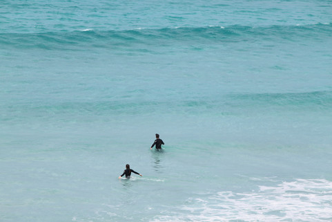 Pennington Bay surfers