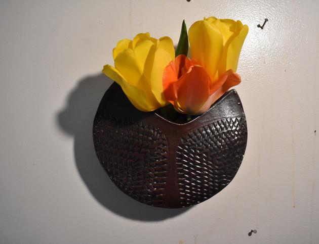Round Wall Vase
