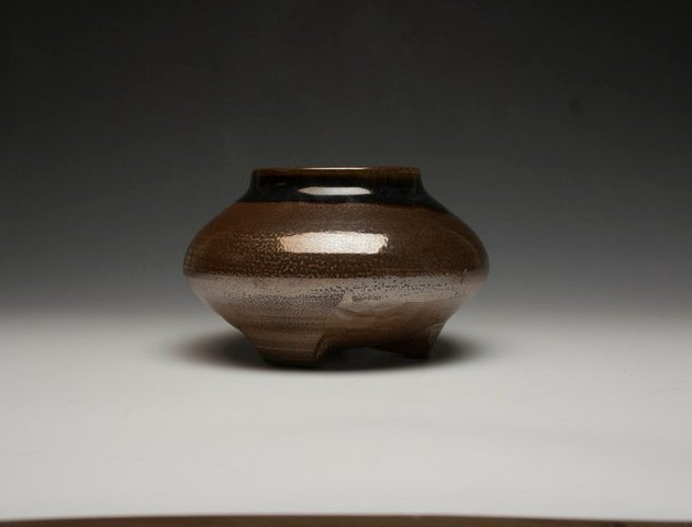 Small Vase with Carved foot