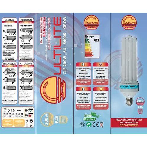 CULTILITE - G-SHOCK 200W GROW - LAMPADA CFL BASSO CONSUMO - 6400°K