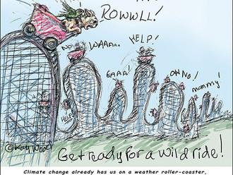 """A Wild Ride Ahead,"" a Fletcher and François cartoon by Kay Wood"