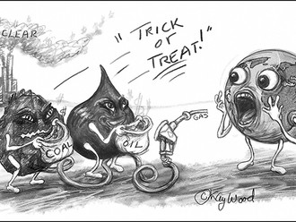 "Scary Funny Cartoon, ""Trick or Treat,"" by Kay Wood"