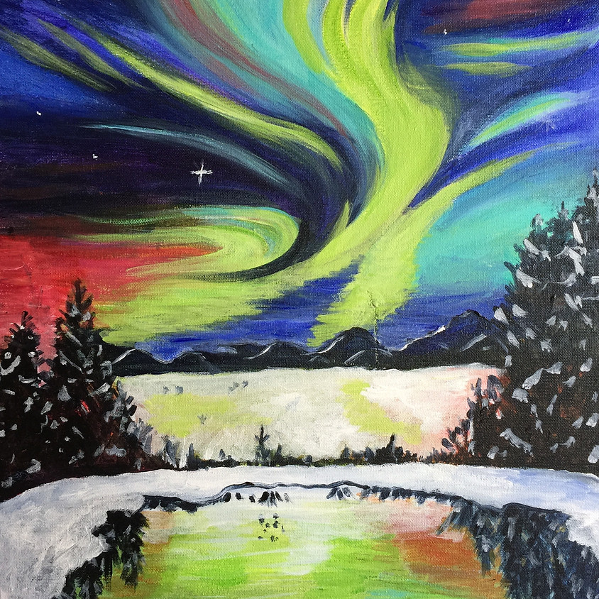 Northern Lights @ Paint Pinot Studio 1 - Braddon, Canberra