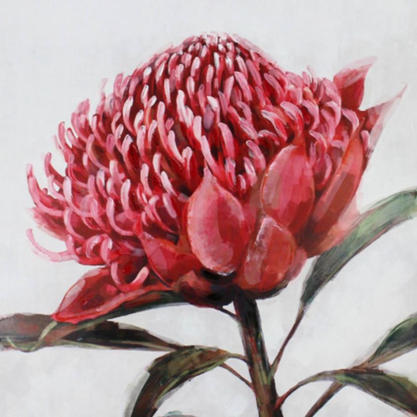 Pink Waratah @ Paint Pinot - Studio 1, Braddon Canberra