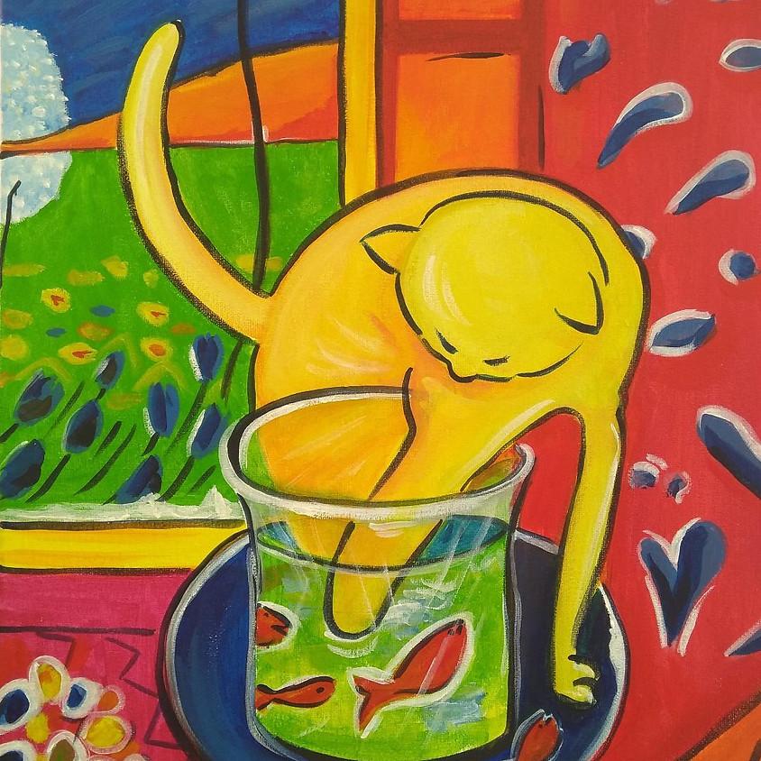 Matisse Cat @ Paint Pinot - Studio 1, Braddon Canberra