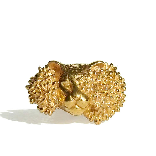 CACHE-CACHE かくれんぼ、豹と花のリング