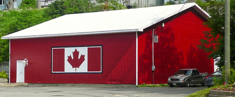 Red steel building Canada