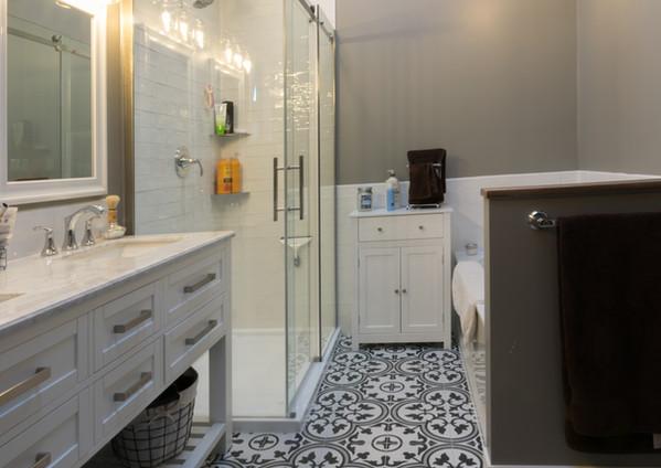residential renovation new bathroom