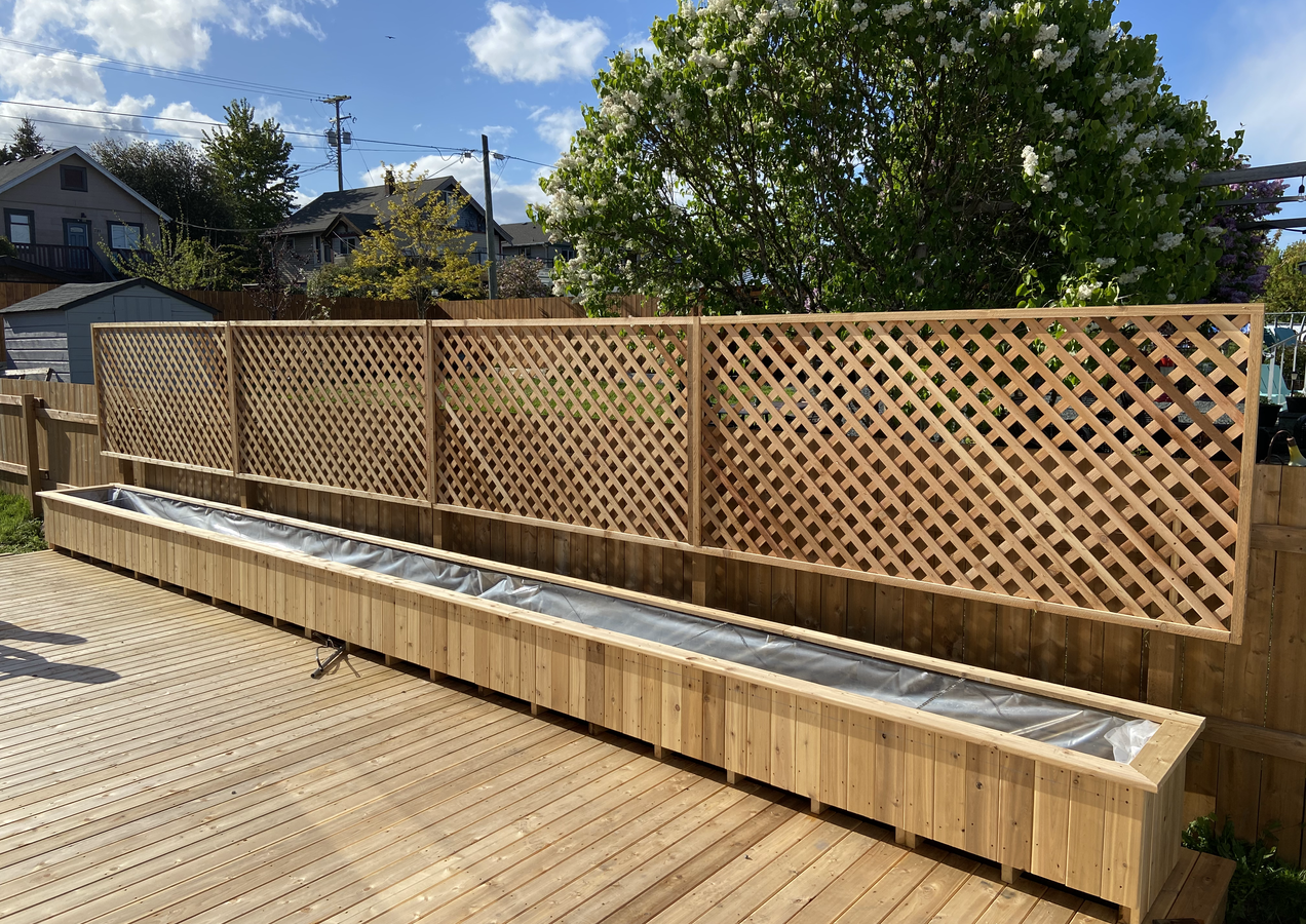 residential renovation deck's panters