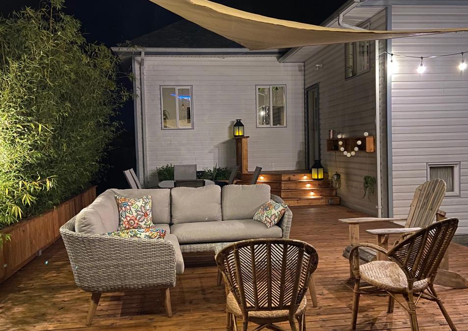 deck at night residential renovation nanaimo
