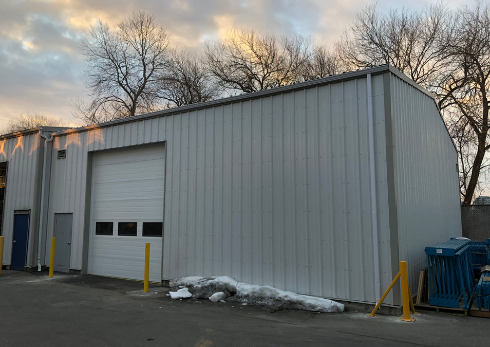 Finished warehouse steel building