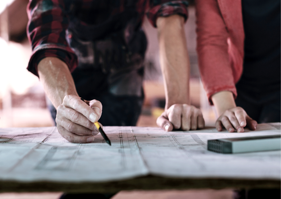 general contractor planning construction