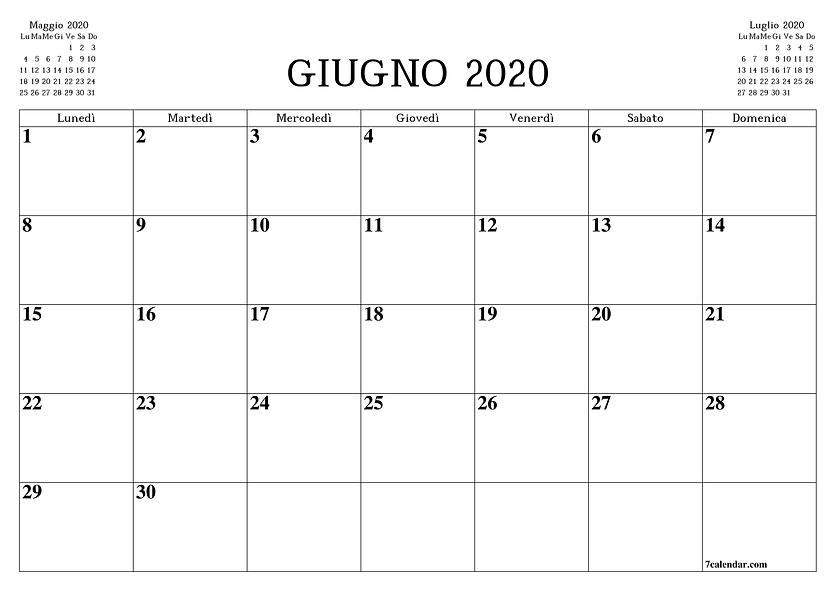Printable-June-2020-Blank-Calendar-A4-A3