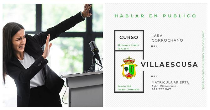 Lara Corrochano, Curso hablar en público