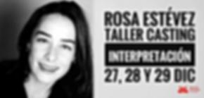 Rosa Estévez, Taller, Casting, Escuela, Actores, Artes Escénicas, Arte Dramático, Laboratorio Creativo Audiovisual, Santander, Cantabria
